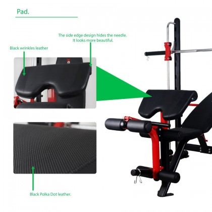 Smith Bench Adjustable Barbell Bench Gym Squat Rack 300KG MAX LOAD